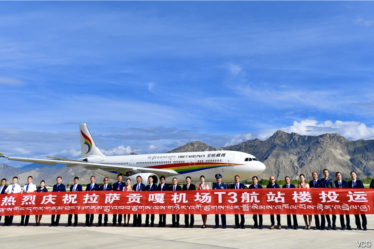 With the new terminal, the airport is expected to meet an annual handling capacity of 9 million passengers and 80,000 metric tons of cargo, handling more than 75 percent of the passenger flow of all airports in Tibet, according to the airport.