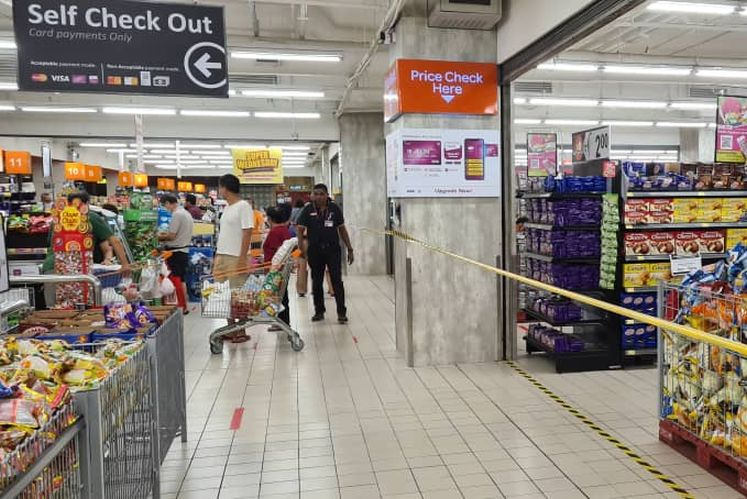 The Aeon Big store in Subang Jaya being sealed yesterday. Picture courtesy of Belleview Group.
