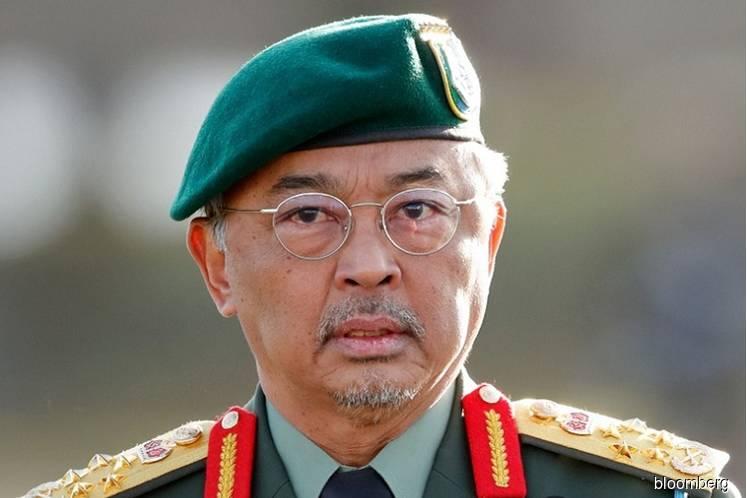 The Yang di-Pertuan Agong Al-Sultan Abdullah Ri'ayatuddin Al-Mustafa Billah Shah (Photo by Bloomberg)