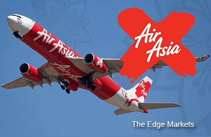 AirAsia X's immediate resistance seen at 37 sen, says JF Apex Securities