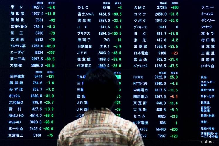 Asia shares up on policy easing hopes, yuan slips on PBOC signals