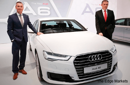 The new, seventh-generation Audi A6 sedan makes its bow
