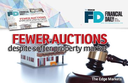 Fewer auctions despite softer property market