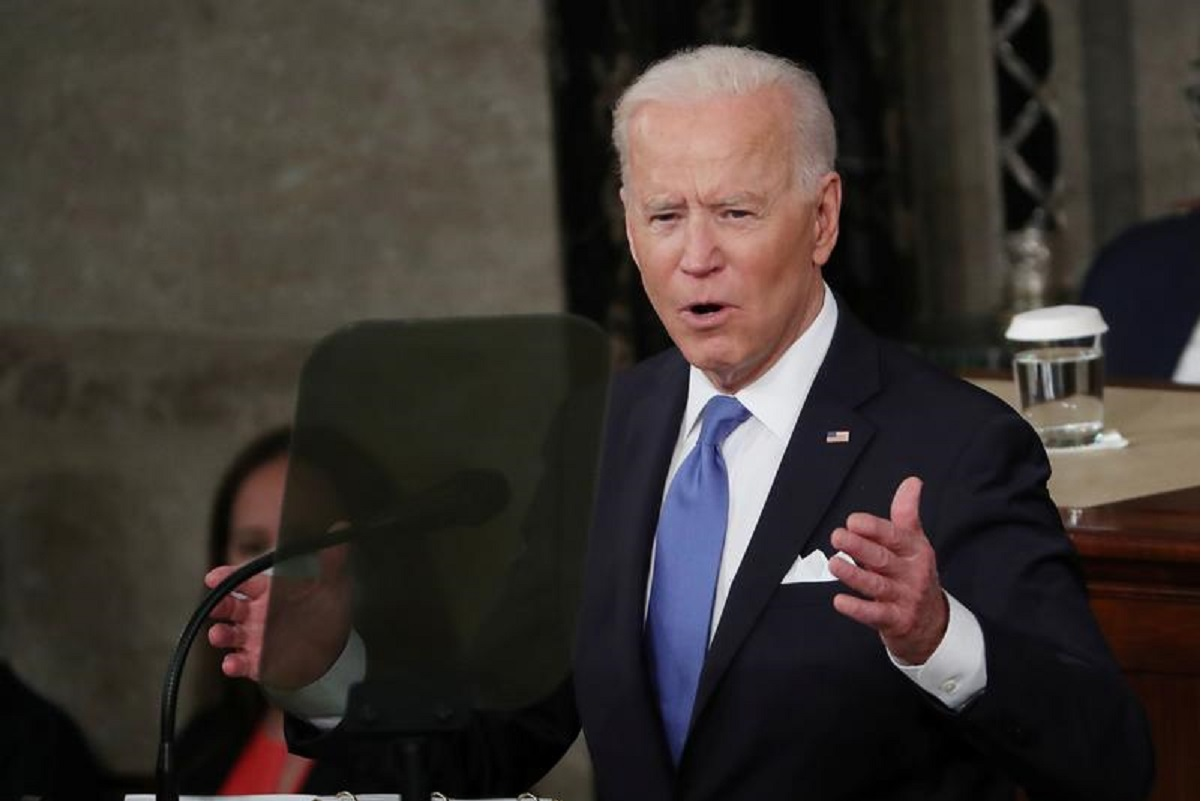 Biden: It's time for corporate America and the wealthiest 1% of Americans to pay their fair share — just pay their fair share. (Photo by Reuters)