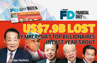 US$7.9b lost by Malaysia's top billionaires in last year's rout
