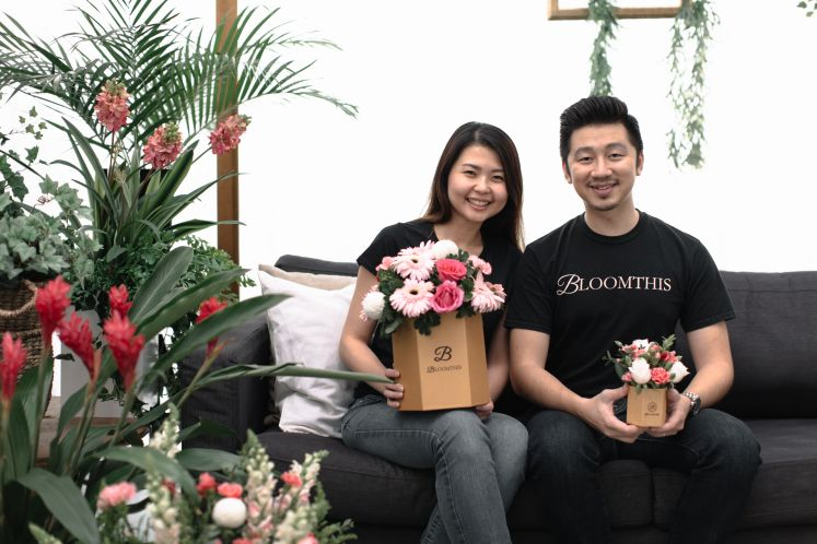 CEO and co-founder of BloomThis Flora Giden Lim with Penny Choo, his wife and business partner.