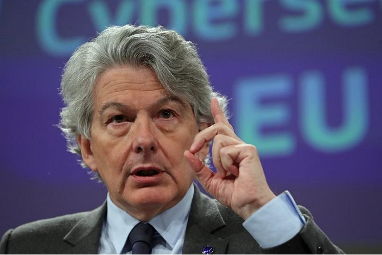 The EU's internal market Commissioner Thierry Breton (Photo by Reuters)