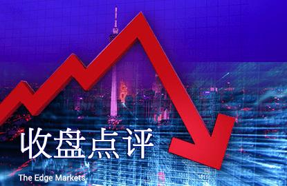 中国贸易数据和国油挂钩股项拖累 马股全日跌挫17.17点