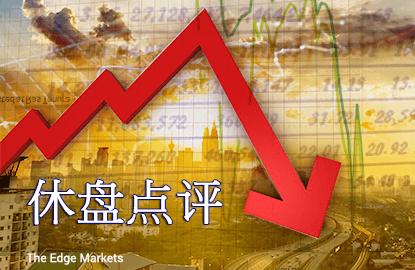 半日下跌股居多 马股跌0.34%