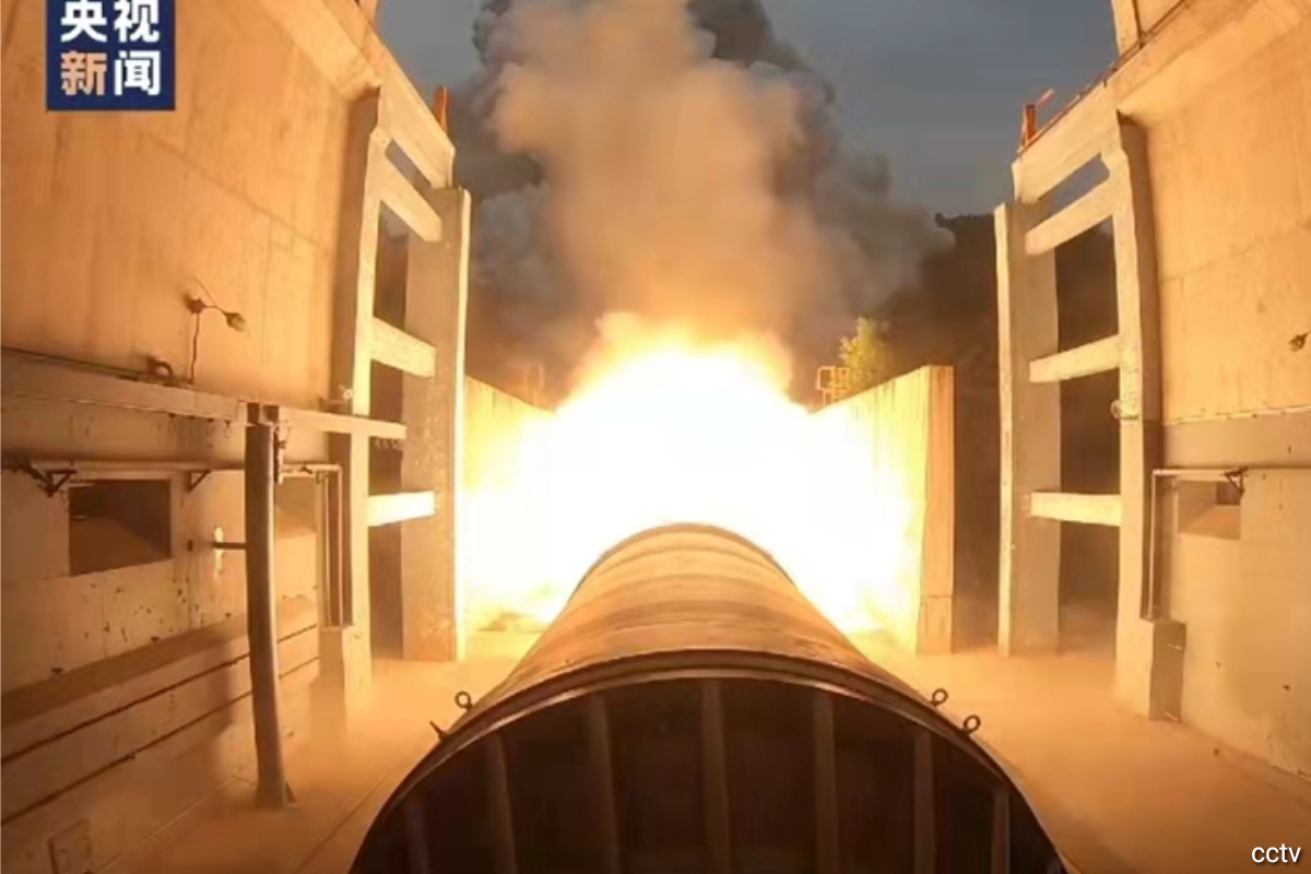 China successfully tests 500-ton solid rocket engine — Global Times