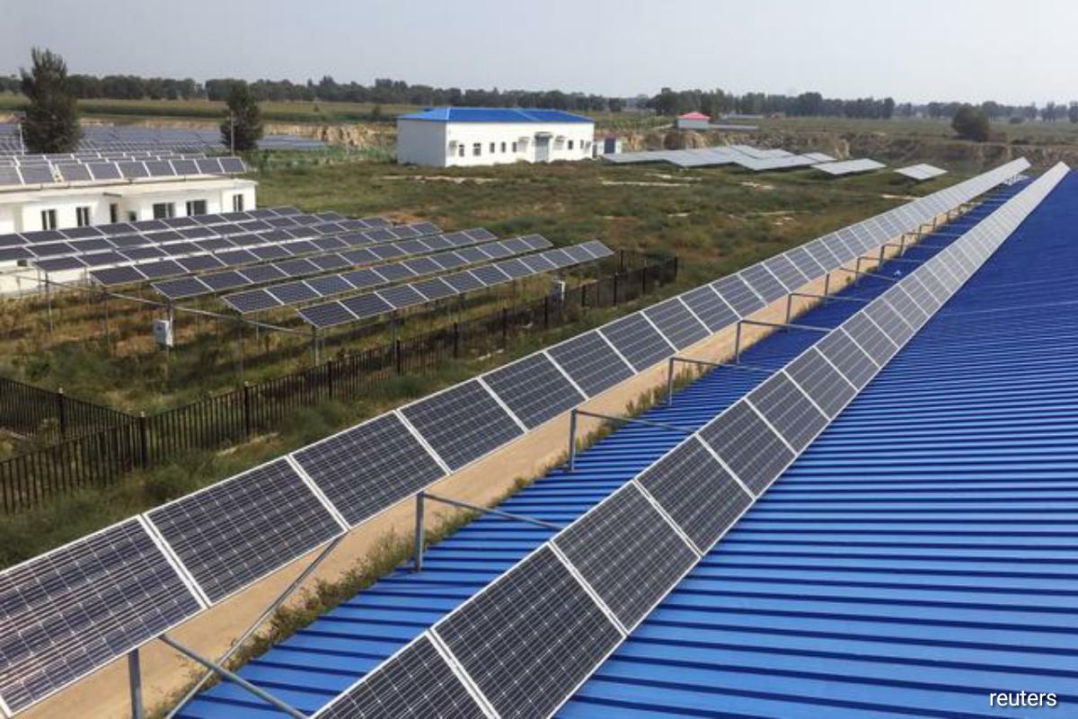 Solar energy farm in China