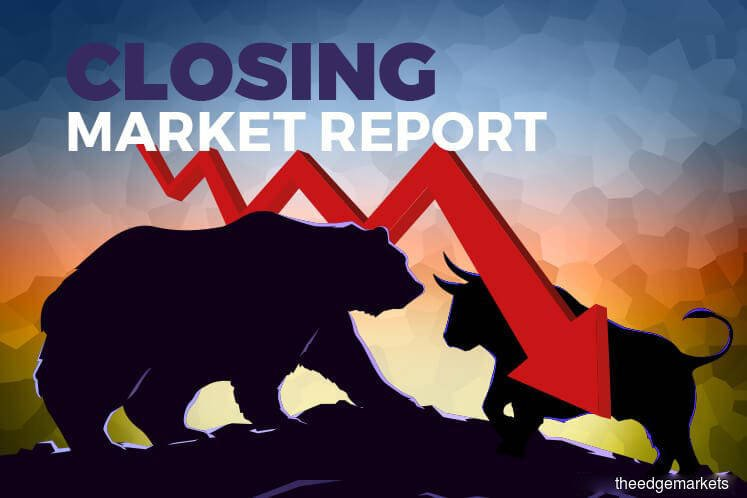 KLCI ends lower as oil prices tumble