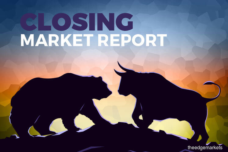 KLCI reverses early gains to close lower as foreign selling weighs