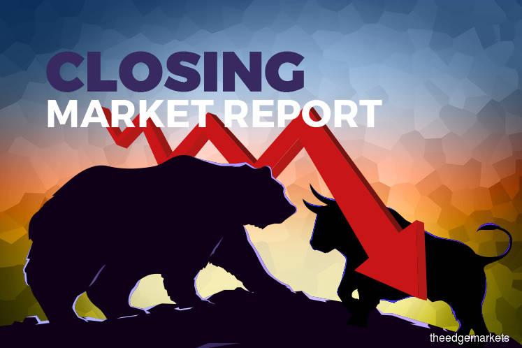 KLCI down 15.7 points; O&G shares fall