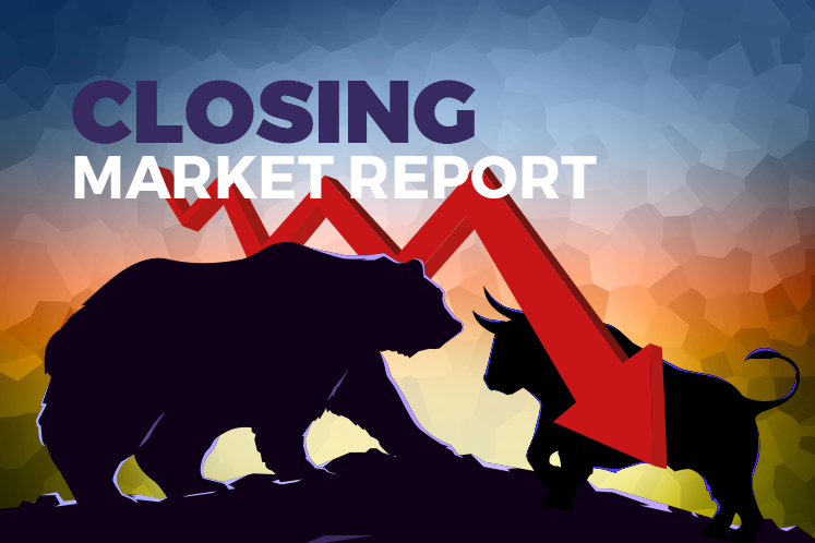 KLCI closes lower for fourth straight day, dragged down by Top Glove and Hartalega