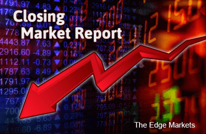 KLCI falls on China factory slump; ringgit strengthens