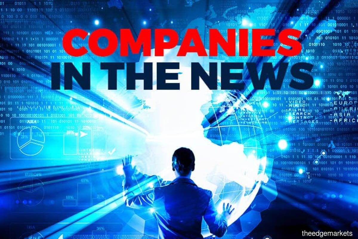 Solarvest, Chin Hin Group Property, Straits Inter Logistics, PetDag, OM Holdings, Green Packet Bhd, G3 Global, Mi Technovation, JF Technology, Boustead Plantations, Ireka
