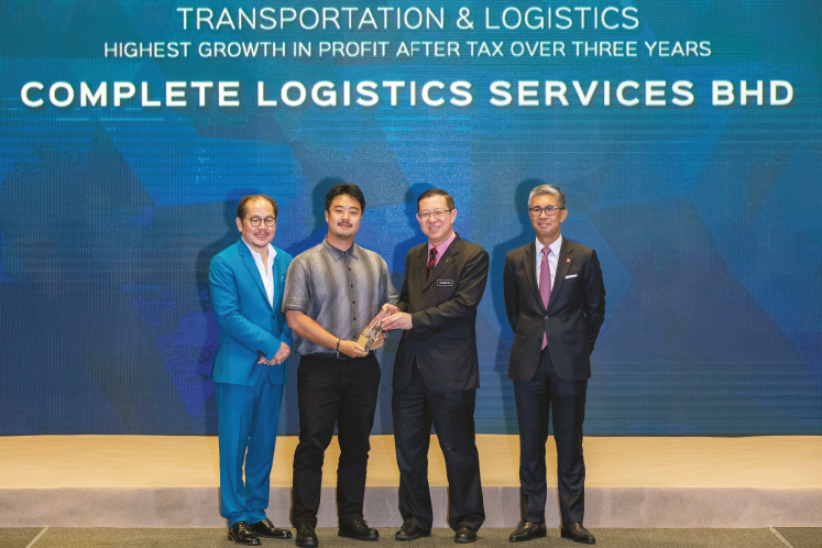 Highest growth in profit after tax over three years: TRANSPORT & LOGISTICS: Complete Logistic Services - Defends bottom line despite growing pressure