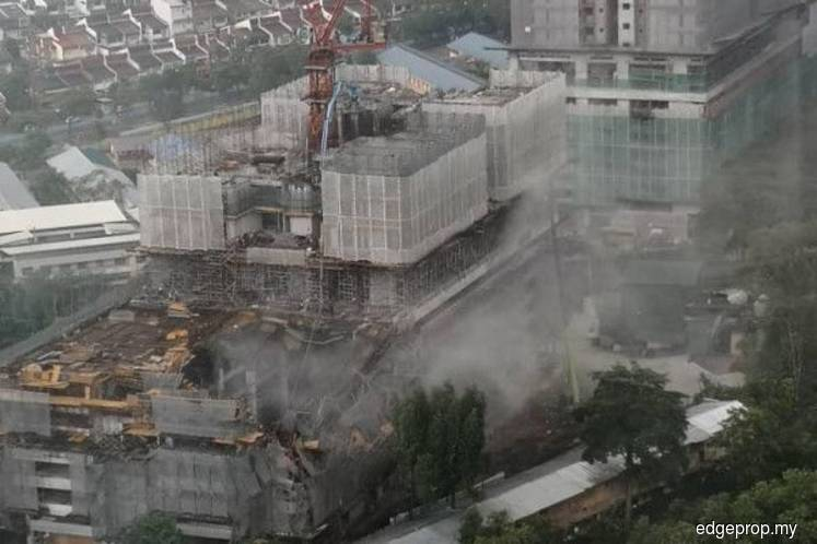 Taman Desa condo collapse: Two workers rescued