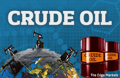Oil down on record US crude stocks, flat Russian output