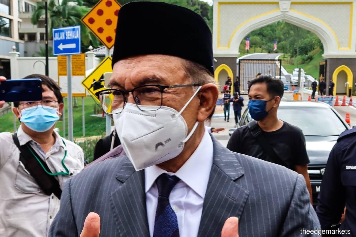 Datuk Seri Anwar Ibrahim (Photo by Zahid Izzani Mohd Said/The Edge)