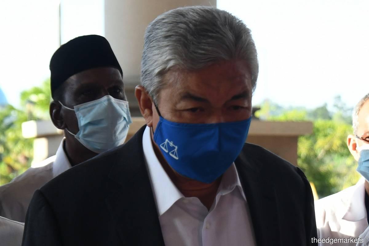 Datuk Seri Dr Ahmad Zahid Hamidi (Photo by Mohd Izwan/The Edge)