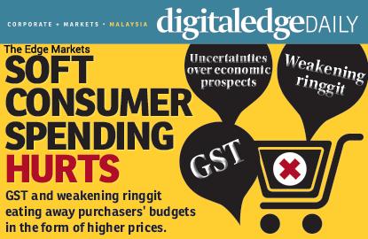 Soft consumer spending hurts