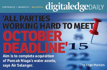 'All parties working hard to meet October deadline'