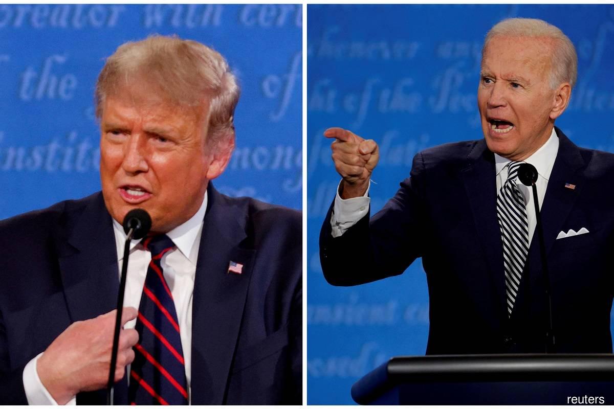 Donald Trump (left) and Joe Biden (right)