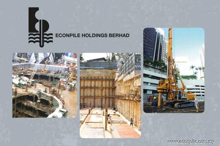 Econpile slips 1.95% after unit served RM346m countersuit