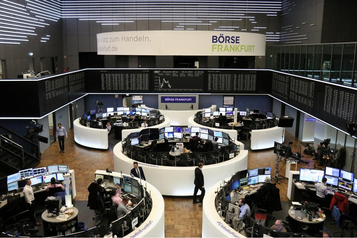 European shares jump and bond markets recover; February PMIs in focus