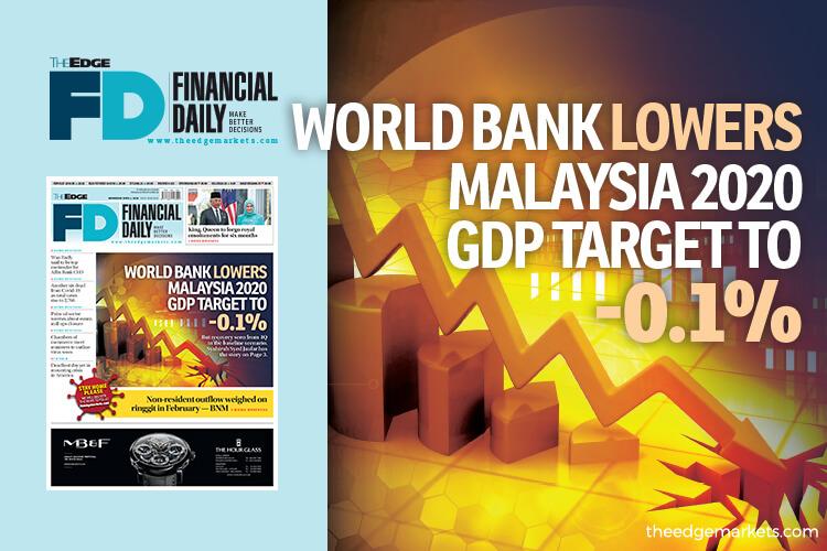 World Bank cuts Malaysia 2020 GDP target to -0.1%