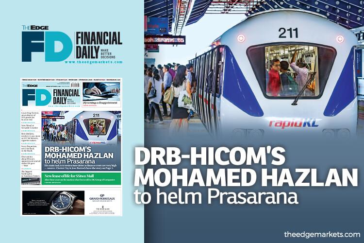 DRB-Hicom's Mohamed Hazlan to helm Prasarana