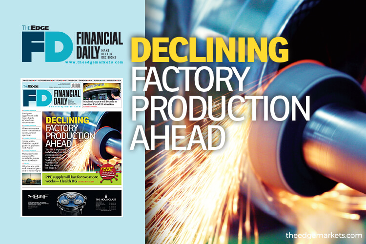 Declining factory production ahead