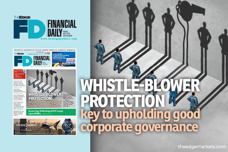 Whistle-blower protection key to upholding good corporate governance