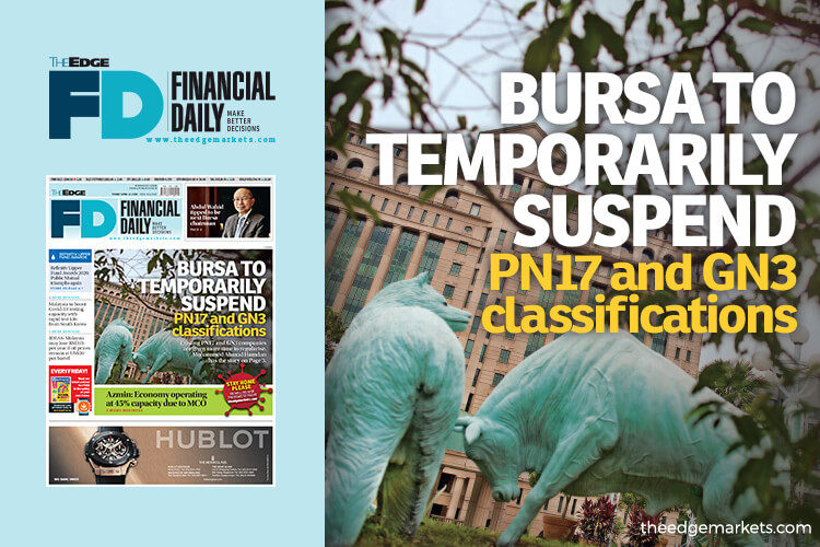 Bursa to temporarily suspend PN17 and GN3 classifications