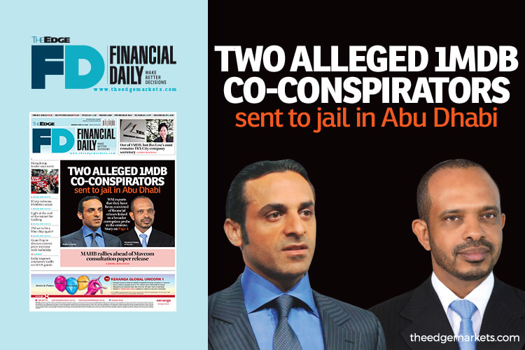 Two alleged 1MDB co-conspirators sent to jail in Abu Dhabi