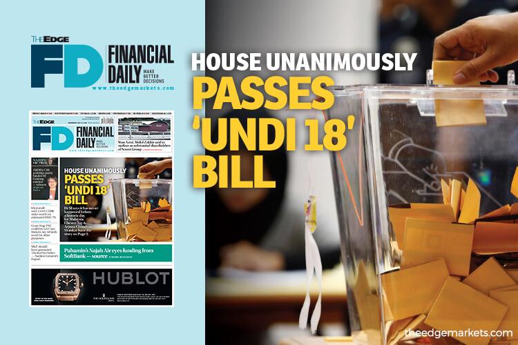 House unanimously passes 'Undi 18' Bill