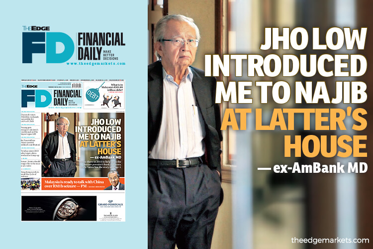 Jho Low introduced me to Najib at latter's house — ex-AmBank MD