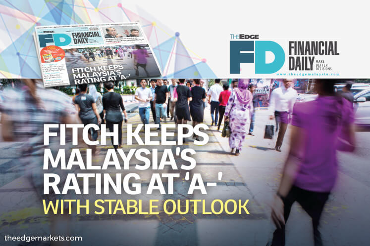 Fitch: Malaysia's rating kept at 'A-' with stable outlook