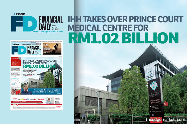 IHH takes over Prince Court Medical Centre for RM1.02b