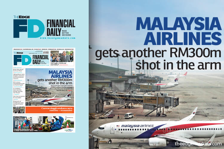 Malaysia Airlines gets another RM300m shot in the arm