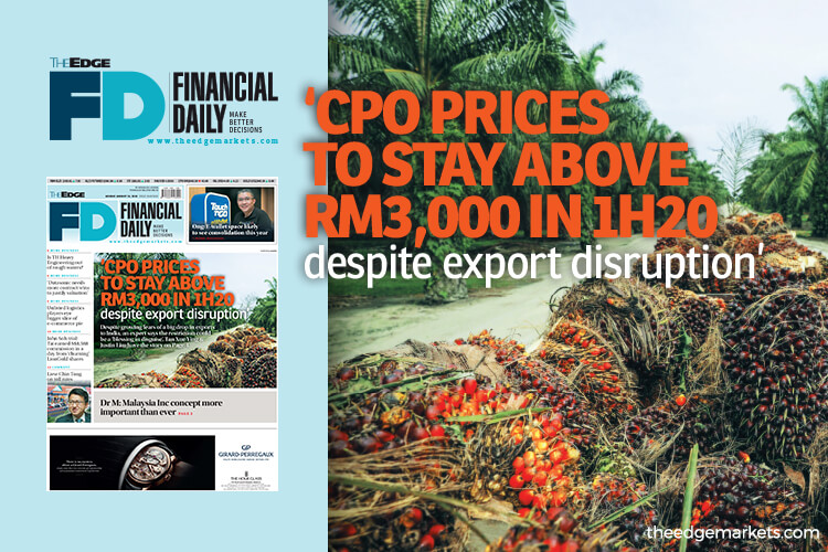 'CPO prices to stay above RM3,000 in 1H20 despite export disruption'