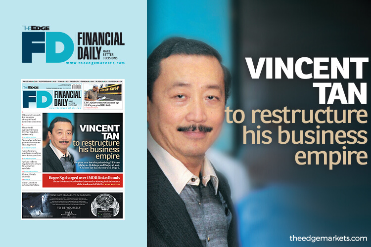 Vincent Tan to restructure his business empire