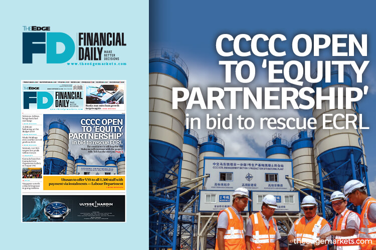 CCCC open to 'equity partnership' in bid to rescue ECRL