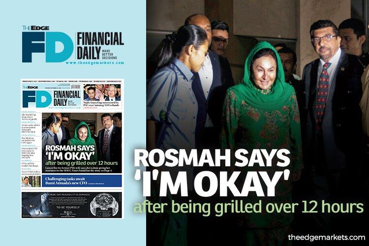 经过逾12小时盘问后 罗斯玛:我很好