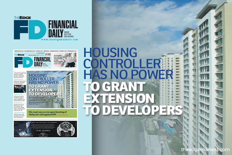 Housing controller has no power to grant EOT to developers