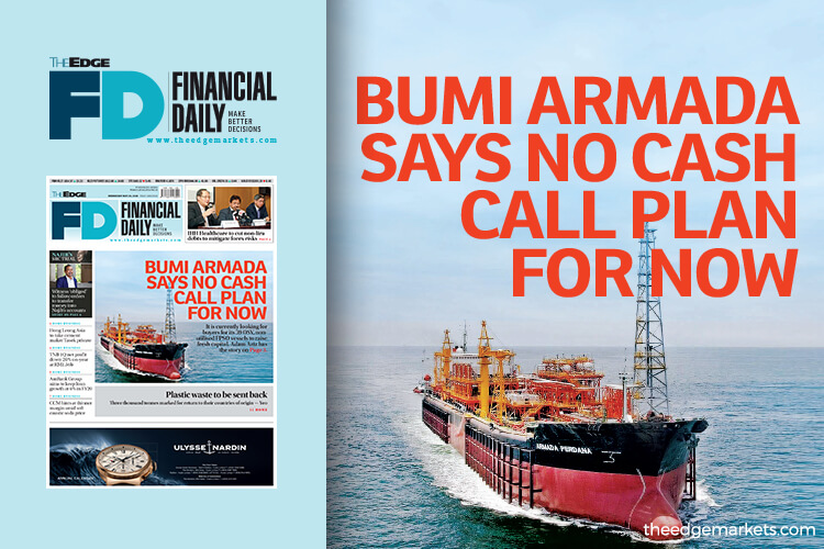 Bumi Armada says no cash call plan for now
