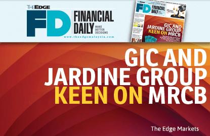 'GIC, Jardine Group keen on MRCB'