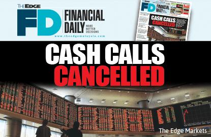 Several cash calls cancelled